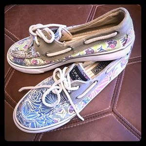 Sperry Floral Boat Shoes
